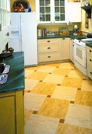 This New Linoleum Floor In A Checkerboard Pattern Is From Forbo