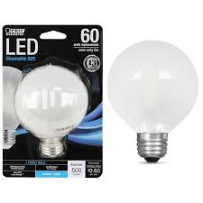 feit electric 5w 60w led g25 light bulb e26 5000k
