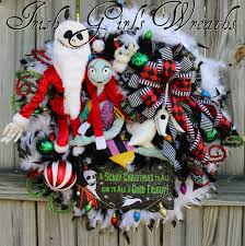 Nightmare Before Christmas Zero Halloween Decorations by Sandy Claws Wreath Deluxe Nightmare Before Christmas Wreath Jack