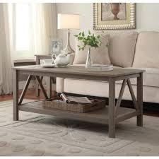 Linon Home Decor Titian Rustic Gray Coffee Table GRY01U The