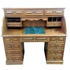 Ethan Allen Dark Pine Roll Top Desk by Vintage U0026 Used Traditional Rolltop Desks Chairish