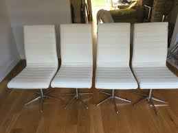 Dining Chairs By Dwell. 6 X Cream, Faux Leather Ripple Dining Swivel  Chairs. Chrome Base - £300 | In Colliers Wood, London | Gumtree