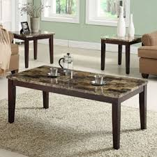 marble top coffee table and end tables szahomen