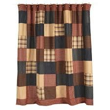 Burgundy Star Bathroom Accessories by Primitive Shower Curtains At Primitive Star Quilt Shop
