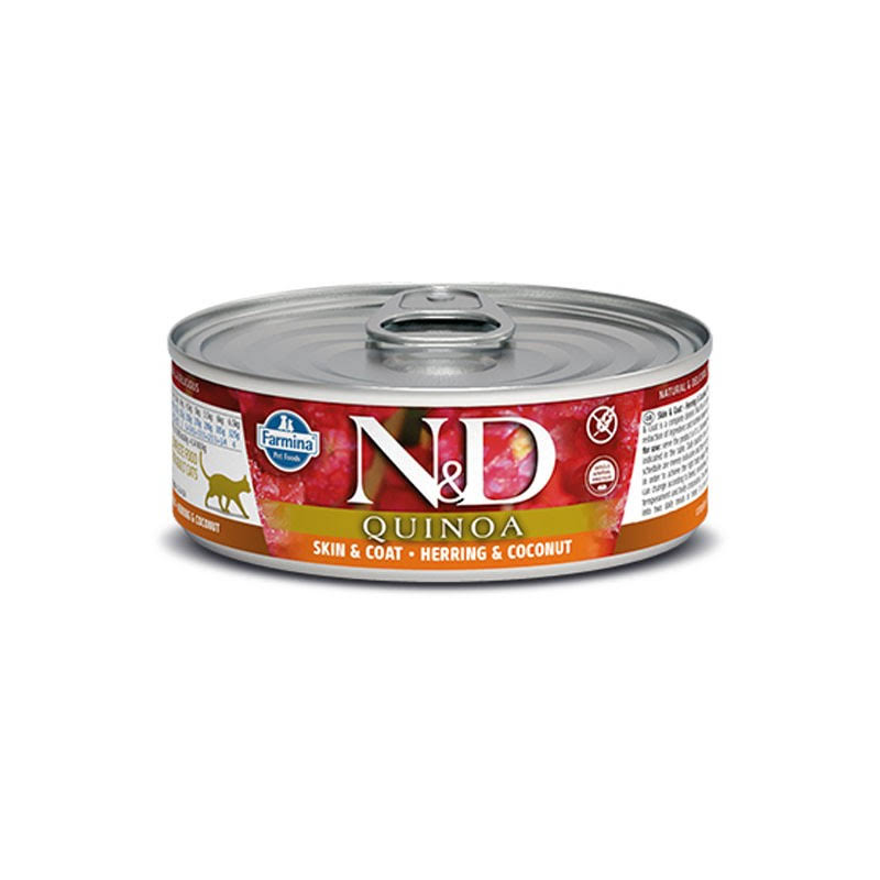 Farmina N&D Skin & Coat Quinoa & Herring Canned Cat Food | Tomlinson's Feed 2.8 oz