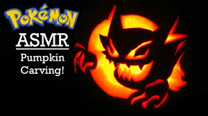 Nerdy Pumpkin Carving by Asmr Carving A Spooky Pokémon Pumpkin For Halloween Youtube