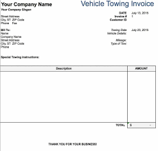100 Tow Truck Receipt 29 Perfect Template With Interview Resume Template