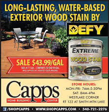 Longest Lasting Deck Stain 2017 by Defy Extreme Wood Stain On Sale Through May 23 2017 Capps Home