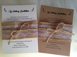 Burlap And Lace Wedding Invitations GBP225 Each For The Bundle Fully Assembled