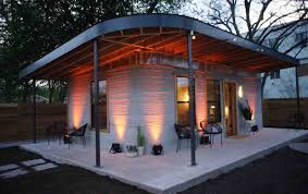 100 House And Home Pavillion Americas First Permitted 3Dprinted Was Built In Texas In