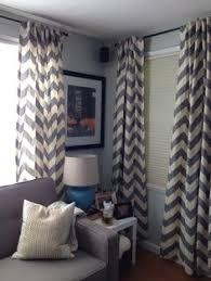 sweet jojo designs gray and white chevron collection window panel