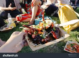 100 Korean Bbq Food Truck Close BBQ Chicken Wings Stock Photo Edit Now 665735140