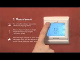 Warm Tiles Easy Heat Manual by Thermonet Touchscreen Thermostat Easy Setup Guide Youtube