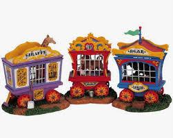 Lemax Halloween Village Ebay by Lemax Village Circus Carnival Zoo Animal Cages Lion Giraffe Bear