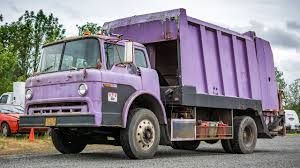 100 Garbage Truck Video Youtube Old Purple Ford CSeries GarWood LP900 Rear Load