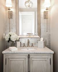 Small Half Bathroom Ideas Photo Gallery by Neutral Powder Room Decor Ideas And Fixture Ideas And Color