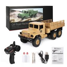 100 6x6 Military Truck 24G RC Car 116 High Speed Racing 6 Wheel Drive Remote Control