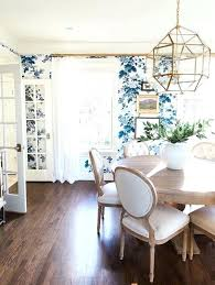 Blue And White Dining Room Reasons To Wallpaper Your Dining Room