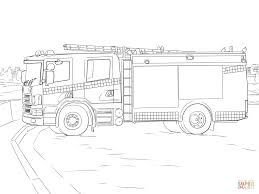 Fire Truck Coloring Pages Page Free Printable Book