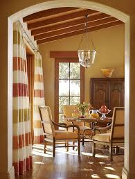 Color Palette Maker Mediterranean Dining Room Also Colorful Striped Curtains Glass Blown Bowl Pendant Light Upholstered Chairs Warm Colors Wood Beams