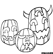 Pumpkin Patch Coloring Pages Printable by Halloween Online Coloring Pages Page 1