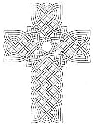 Celtic Cross Coloring Page More
