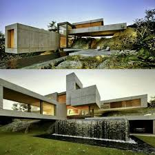 100 Water Fall House Fall Inspired Skycomua Architecture