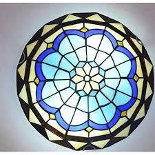 achnc deckenle unterputz retro deckenleuchte mit mediterrane glasschirmle e27 le für wohnzimmer schlafzimmer balkon esszimmer