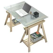 bureau avec tr eaux plaque en verre pour bureau appliquer le pochoir ou le ruban vinyl
