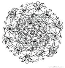 Easy Printable Mandala Coloring Pages Child Page For Adults Animals Sheets