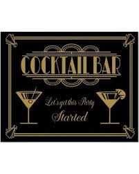 zazzle deco cocktail bar sign 1920 s gatsby poster from