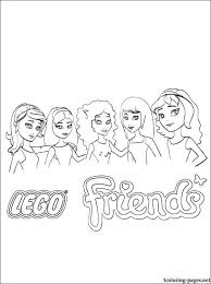 Lego Friends Characteres Printable Page