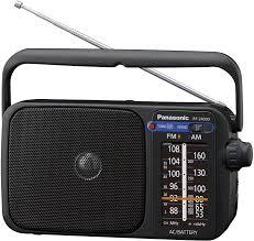 panasonic rf 2400deg k tragbares radio mit griff netz oder batteriebetrieb schwarz