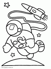 Space Coloring Pages On Free Printable For Kids
