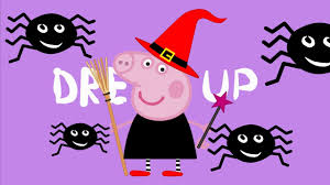 Peppa Pig George Pumpkin Template by Halloween Pig Dressing Up To Witch Halloween Heroes Scary Baby