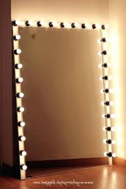 large makeup vanity mirror with lights outstanding free standing