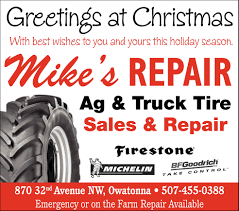 Greetings At Christmas, Mike's Repair, Owatonna, MN Michoacano Speed Road Service Zermatt Manufacturer Truck Tires 11r22516pr For Sales With High Heavy Truck Tires Slc 8016270688 Commercial Mobile Tire Studding Ram Trucks Photo Gallery Lifted Trucks Sale In Virginia Rocky Ridge C Equipment Sales New And Used Ftilizer Spreaders Sprayers Snow Costco Wheels Pinterest Goodyear Canada Neoterra Nt399 28575r245 Parts Montreal Ontario Sos