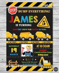 Construction Invitation Invite Card Birthday Party Transportation ... Garbage Truck Party Supplies Auraliamonster Amazoncom Happy Birthday Banner Green Chevron Tableware Kit For 16 Guests Invitation Template Photos And Description About Karas Ideas Monster Jam Crafts Love Matchbox Power Launcher Toys Games 85 Food With The Austins A Tonka 116 Scale Friction Powered Toy Recycling 11 Cool For Kids Lego City Great Vehicles 60118 Walmartcom