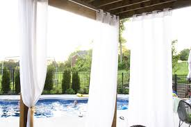 Patio Curtains Outdoor Plastic by Hanging Outdoor Curtains The Polkadot Chair