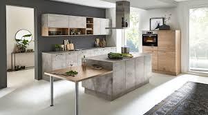originelle 3 teilige küche nolte küchen mit front in beton