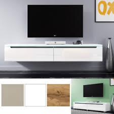 tv hifi tische fernsehschrank in weiß beige wotan