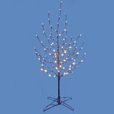 KSa 4 Lighted LED Brown Artificial Christmas Twig Tree
