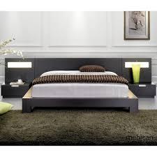 King Size Platform Bed With Headboard by Bedroom Greenkingsizebedframewithheadboardinamoderndesign