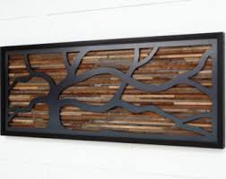Wall Art Designs Wood And Metal Made Of Old Reclaimed
