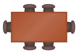 Table Topview Dining Desk Clipart