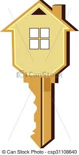 House Key Logo Vector Design