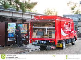 100 Coke Truck Kyoto Japan November 15 2017 Delivering Drinks A