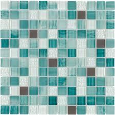shop elida ceramica royal green squares mosaic glass and