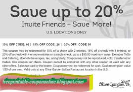 Printable Coupons 2018 Olive Garden Coupons