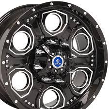 Amazon.com: 20x9 Wheel Fits 6 Lug GMC Chevy Trucks - Black Machined ...